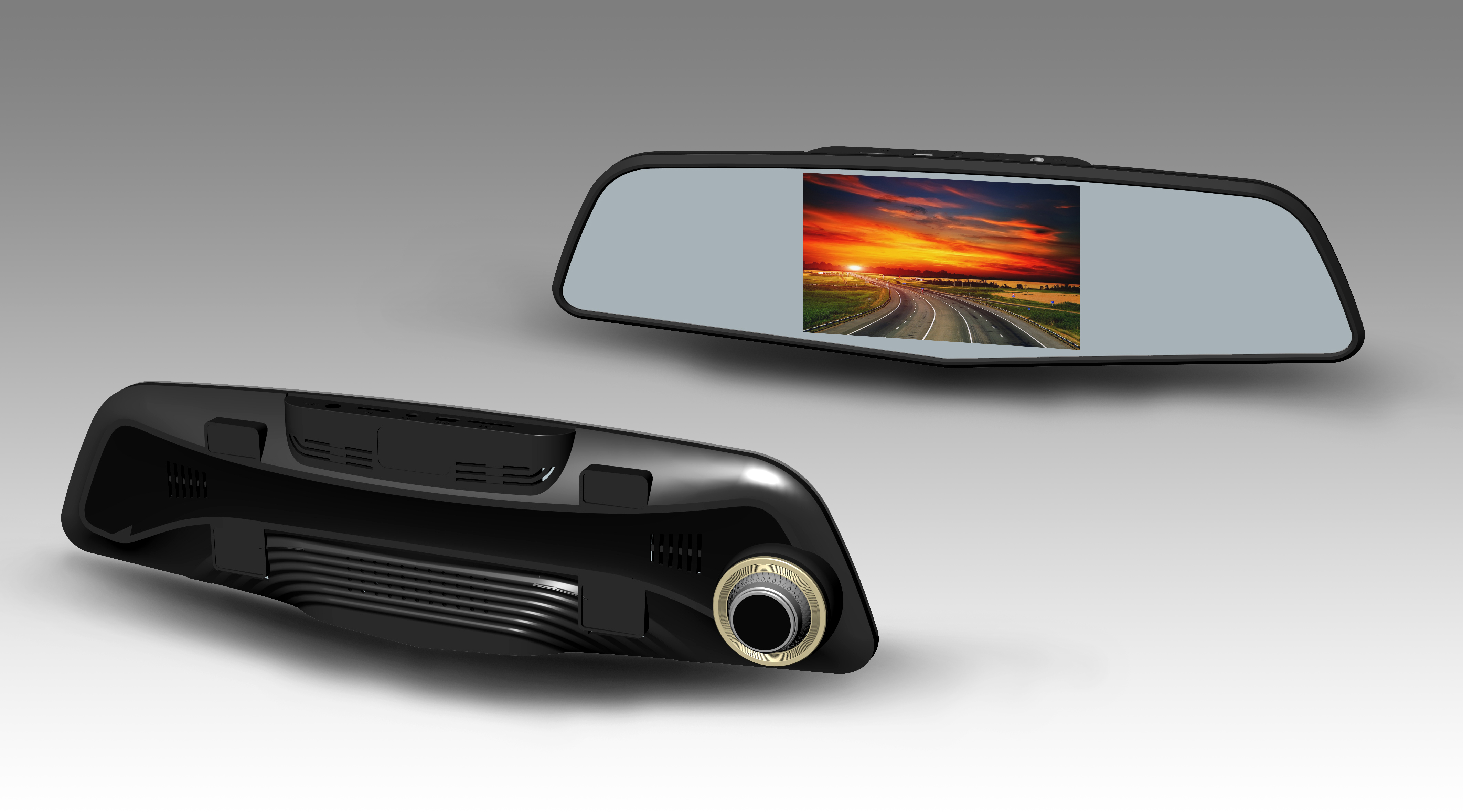 智能后视镜行车记录仪518延续米狗时尚大方设计风格,采用顶级电镀工艺