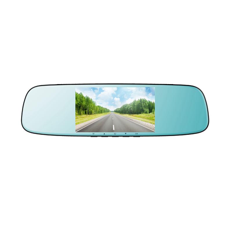 米狗超薄磁镜3D曲屏后视镜行车记录仪2516