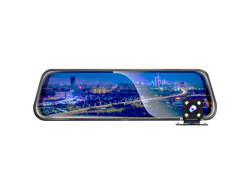 现代全面屏后视镜行车记录仪MCR-E998